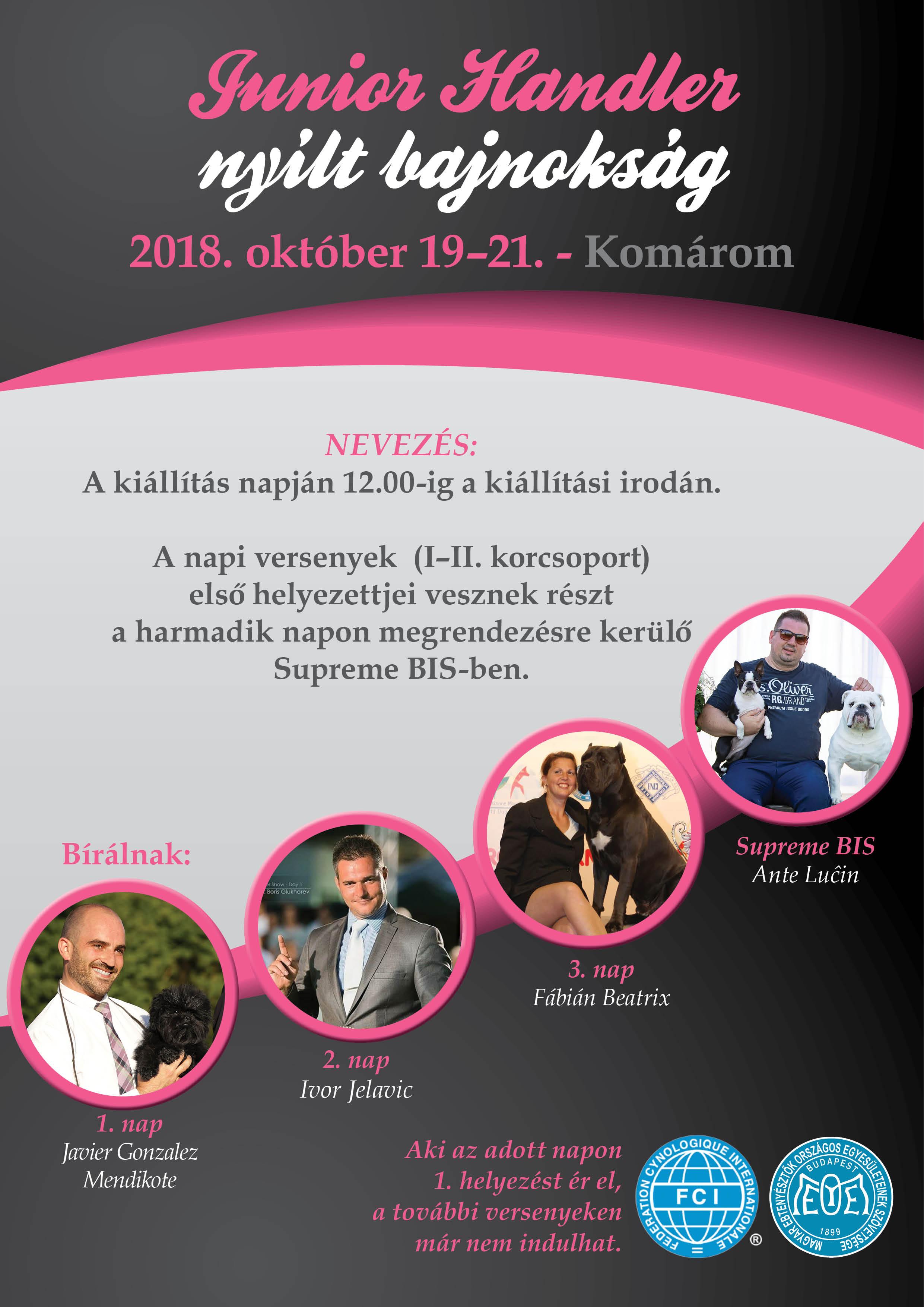 Szuprém Junior Handler verseny